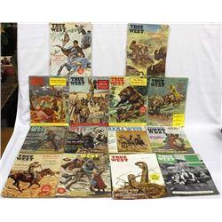 14 Vintage Western Cowboy Magazines