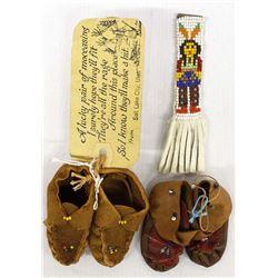 3 Vintage Native American Souvenir Collectibles