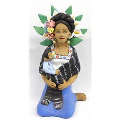Mexican Pottery Calla Lily Vendor by G. Abuilar A.