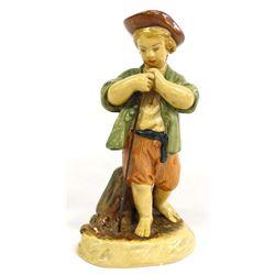 Antique Borghese Shepherd Boy Figurine