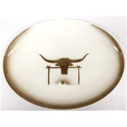 Embassy Vitrified China Platter, Cowboy Motif