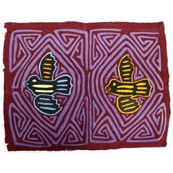 2 South America Kuna Indian Hand Stitched Molas