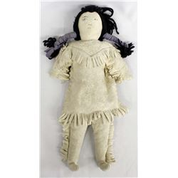 Native American Sioux Leather Doll