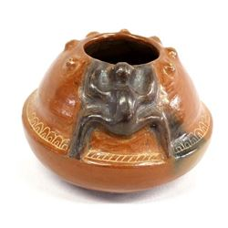 South American Pottery Frog Bowl