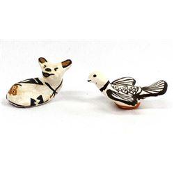 2 Acoma Miniature Pottery Animals