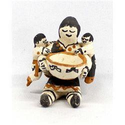 Acoma Miniature Pottery Storyteller, M. Henderson