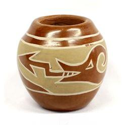 Santa Clara Avanyu Pottery Jar