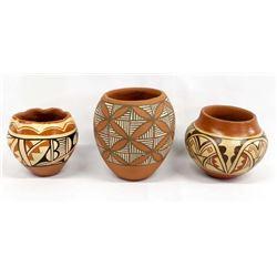 3 Pieces  of Native American Jemez Pottery