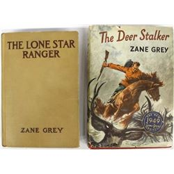 2 Vintage Zane Grey Hardback Books