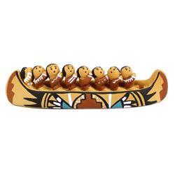Native American Jemez Pottery Canoe