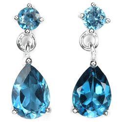 Natural AAA LONDON BLUE TOPAZ Earrings