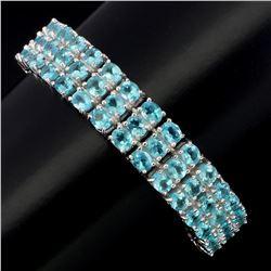 Natural Brazil Blue Apatite 169 Carats Bracelet