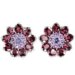 NATURAL PURPLISH PINK RHODOLITE AMETHYST Earrings