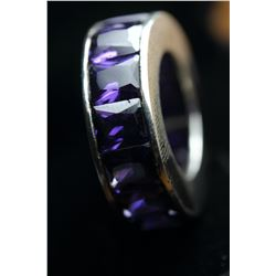 Stunning Amethyst Eternity Band 45.25 Carats