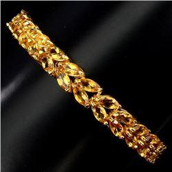 Natural Top Yellow Citrine Bracelet