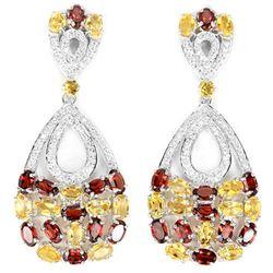 NATURAL AAA CITRINE & Garnet Earrings