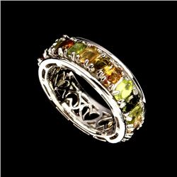 Natural Top Fancy Colors Tourmaline Ring
