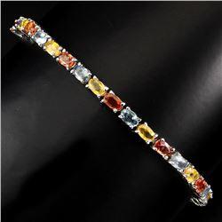 Natural Fancy Color Sapphire 57.20 Carats Bracelet