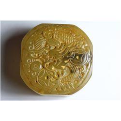 Old China Jade hand-carved Dragon Seal