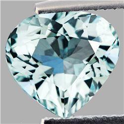 Natural Sky Blue Aquamarine Heart 2.67 Cts - VVS