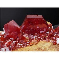 Natural VANADINITE - lustrous Crystals on Matrix