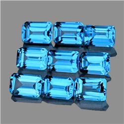Natural Swiss Blue Topaz 6x4 MM - FL