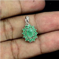 Natural Clumbian Emerald Pendant
