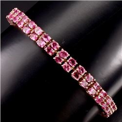 Natural Top Rich Pink Tourmaline 100.83 Ct Bracelet