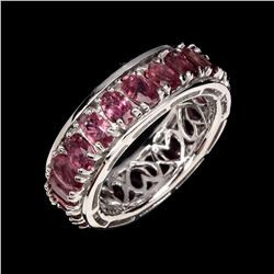 Natural Top Rich Pink Tourmaline Ring