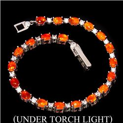 Natural Top Rich Orange Fire Opal Bracelet