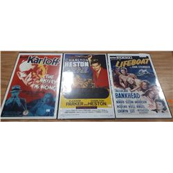 3 MOVIE POSTERS ON BOARD