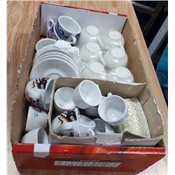 BOX LOT OF CAFÉ SETS