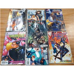 LOT OF 7 PACKETS OF COMICS