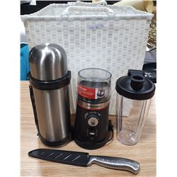 CARRY TOTE OF KITCHEN ITEMS