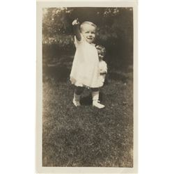 Marilyn Monroe childhood photograph - Norma Jeane at 2 years old.