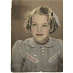 Marilyn Monroe childhood photograph - Norma Jeane at 9 years old.