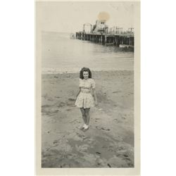 Marilyn Monroe personal photograph - Norma Jeane at the beach on Catalina Island.