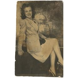 Marilyn Monroe personal teenage photograph - Norma Jeane at 15 years old.