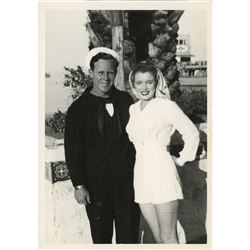 Marilyn Monroe personal photograph - Norma Jeane and Jim Dougherty on Catalina Island.