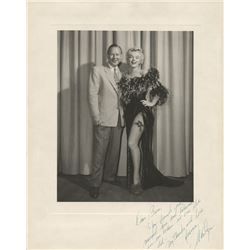 Marilyn Monroe oversize photograph inscribed to Ben Lyon thanking him for discovering & naming her.