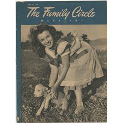 "Marilyn Monroe first magazine cover for Family Circle Magazine as ""Norma Jeane""."