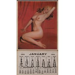 "Marilyn Monroe's personally owned 1955 ""Golden Dreams"" calendar from her estate."