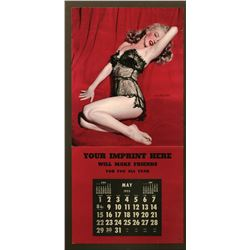 Marilyn Monroe set of (2) large pin-up calendar samples with 1-nude and 1-lingerie overprint.