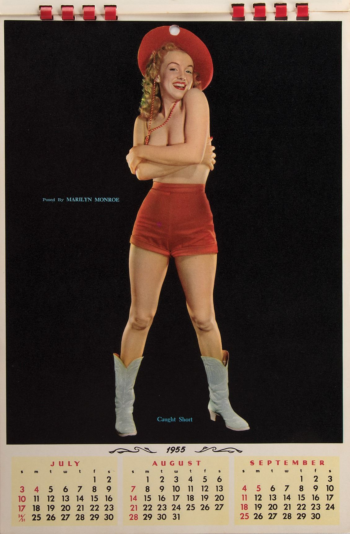 Marilyn Monroe 1955 Pin Up Cowgirl Calendar Sample