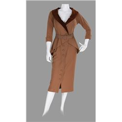 "Marilyn Monroe ""Roberta 'Bobbie' Stevens"" brown skirt suit by Charles Le Maire from Love Nest."
