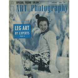 Marilyn Monroe Art Photography January, 1952 with cover by Andre De Dienes.