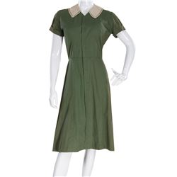 "Marilyn Monroe ""Nell Forbes"" green and black dress by Travilla from Don't Bother to Knock."