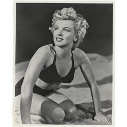 Marilyn Monroe bathing suit portrait photograph from Clash By Night.