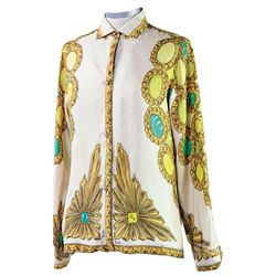 Marilyn Monroe silk blouse designed by Pucci and worn by Marilyn in photo shoot by George Barris.