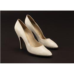 "Marilyn Monroe ""Ellen Arden"" white leather Ferragamo pumps worn in Something's Got to Give."